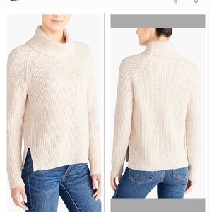 J.Crew Lambs Wool Donegal Turtleneck Sweater